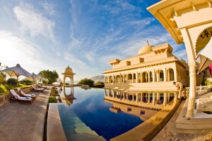 Morning Poolside at the Oberoi Udaivilas Udaipur, India